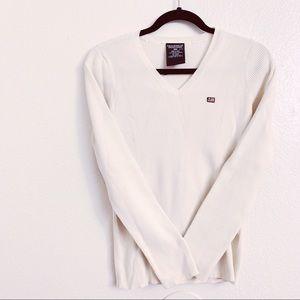 📌Polo byRL Classic Ribbed Cream Sweatshirt